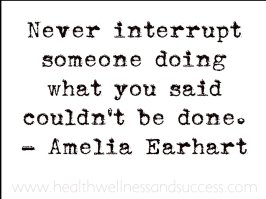 Never interrupt someone doing what you said couldn't be done