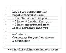 let's stop competing for joy